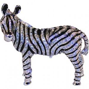 Chasing Treasure Zebra Trinket Box