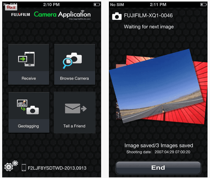 Fuji camera app2