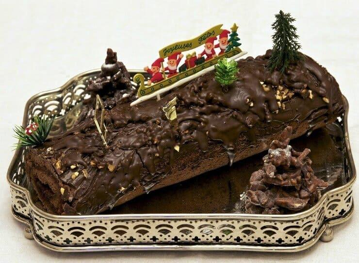Christmas Yule Log in Belgium