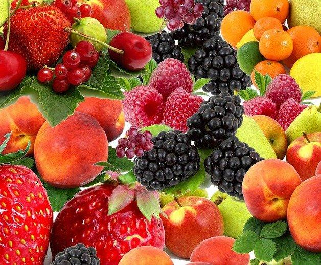 variety of summer fruit