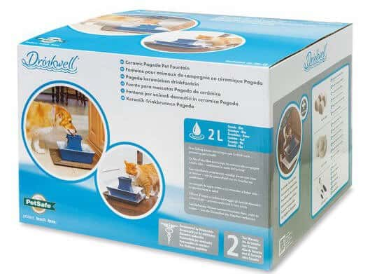 Drinkwell Pagoda Pet Fountain in box
