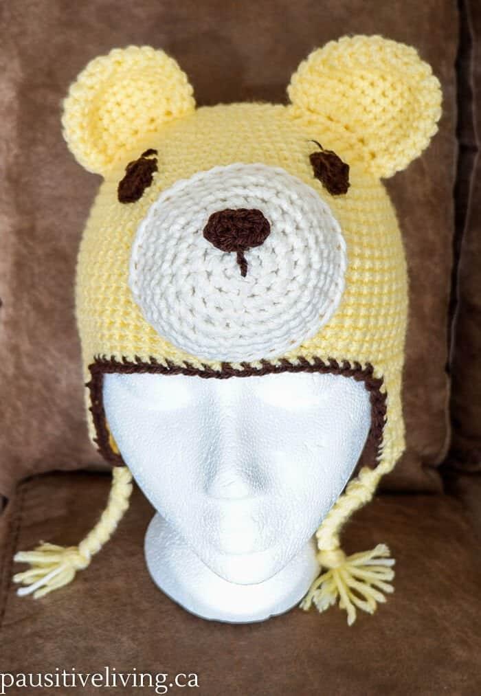 Crocheted Kids Bear Hat