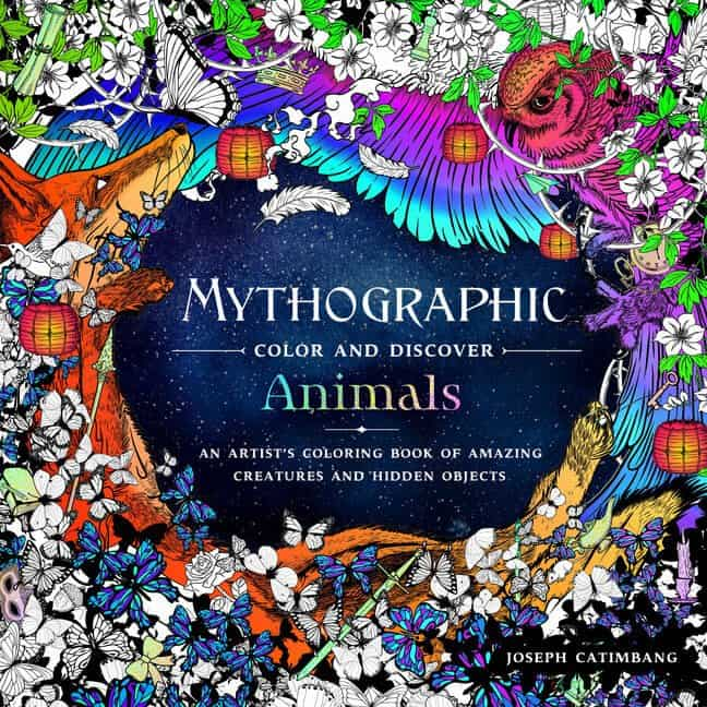 Whimsical coloring books pausitive living Mythographic animals coloring book