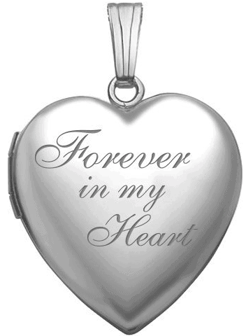 PicturesOnGold Sterling Silver Forever In My Heart Locket