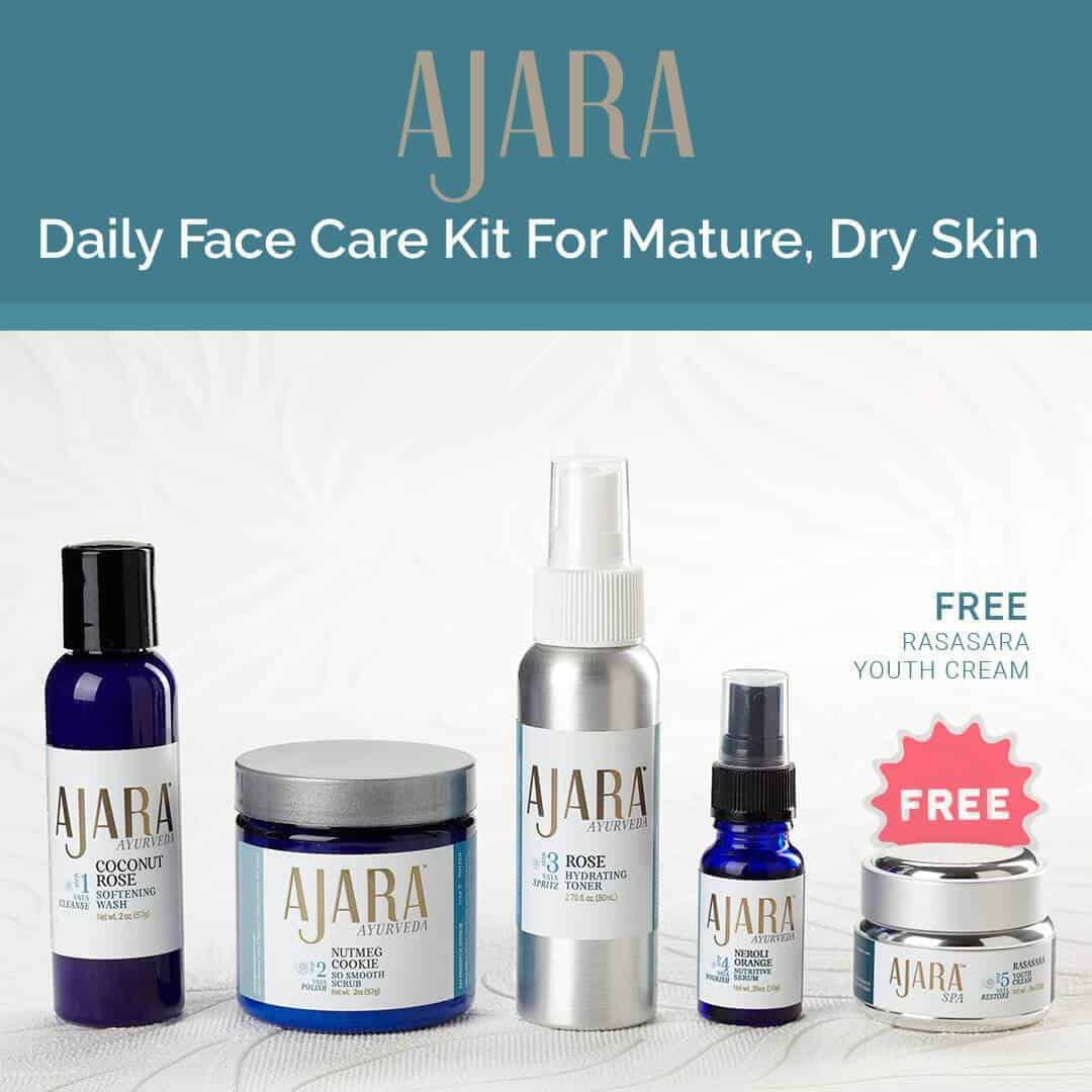 Ajara Daily Face Care Kit for Mature or Dry Skin