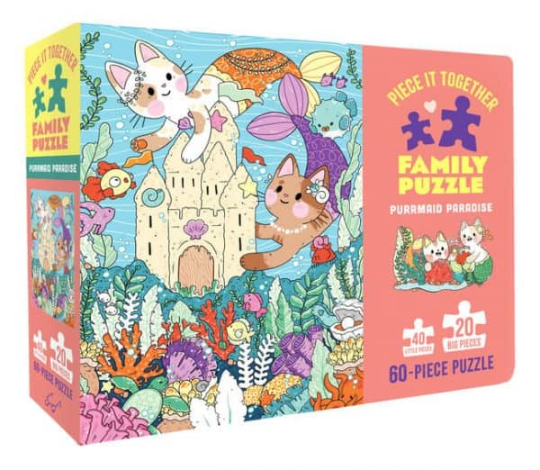 Piece It Together - Purrmaid Paradise puzzles