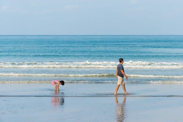 Beach with Dad - Pixabay