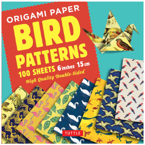 Origami bird pattern double-sided paper
